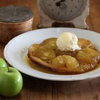 Apple and verjuice tarte tatin
