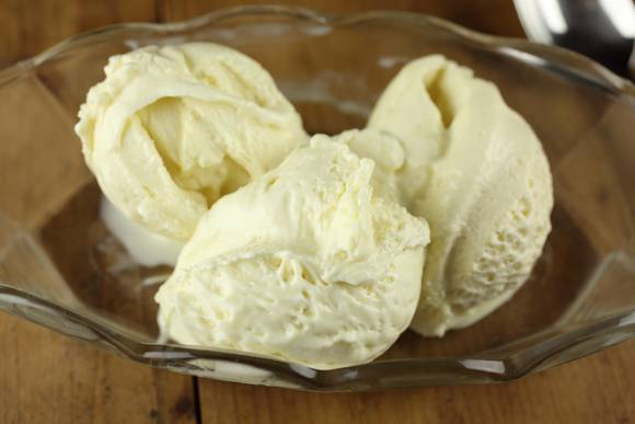 Extra virgin olive oil and verjuice ice cream
