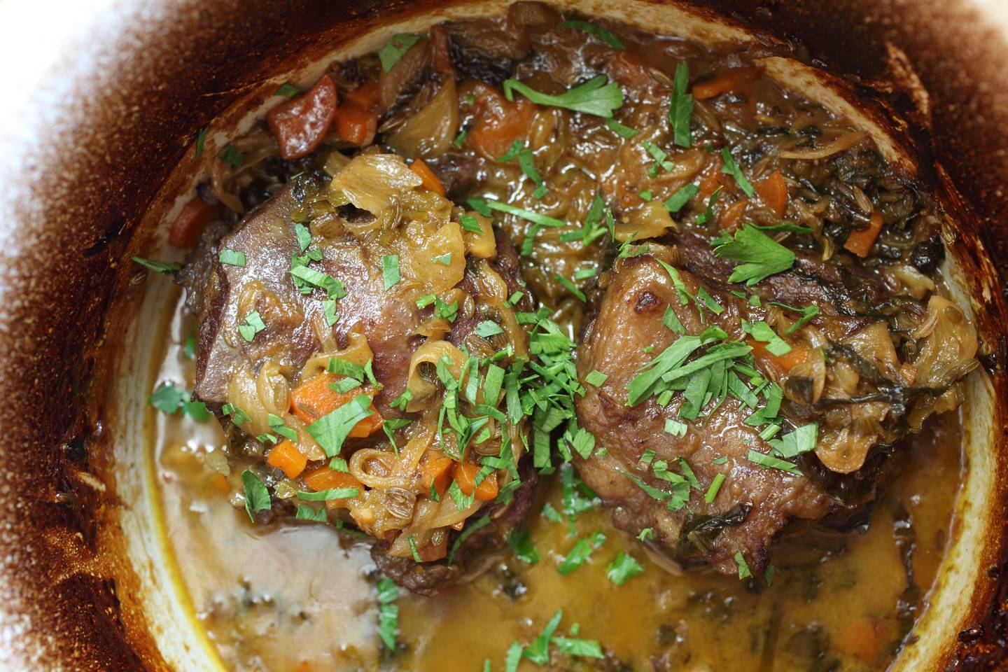 ... braised in guinness braised beef and onions baked honey mustard corned