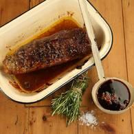 Cabernet roasted beef rump