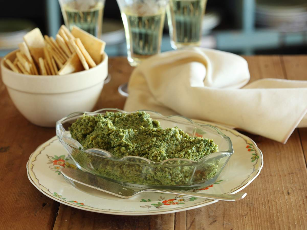 Artichoke green olive and preserved lemon dip