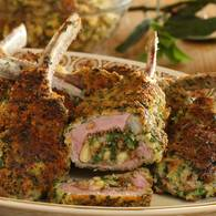 Lamb cutlets with fig stuffing