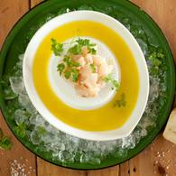Approved   scallop sashimi with olive oil and lemon juice
