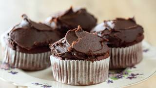 Chocolate beetroot cupcake