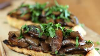 Approved   mushroom and verjuice bruschetta