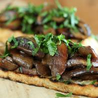 Approved   mushroom and verjuice bruschetta
