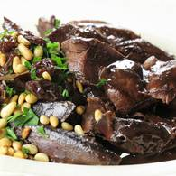 Hare with pine nuts lemon sultanas