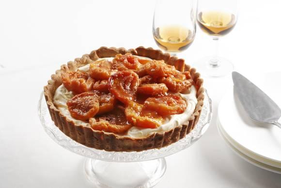 Mascarpone tart with peaches086