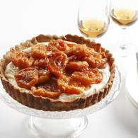 Mascarpone tart with peaches086