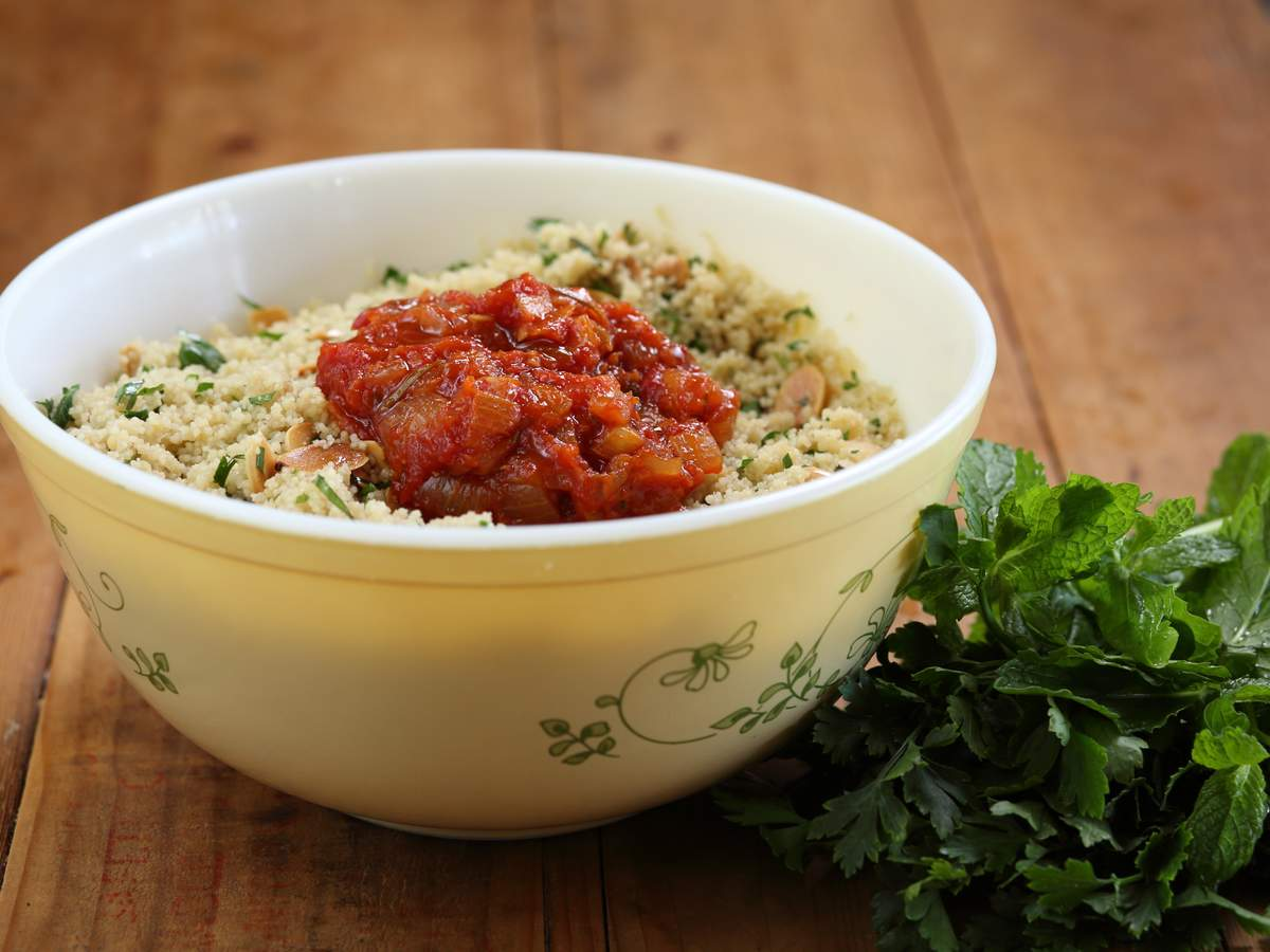 Couscous with preserved lemon and tomato chutney 1   approved