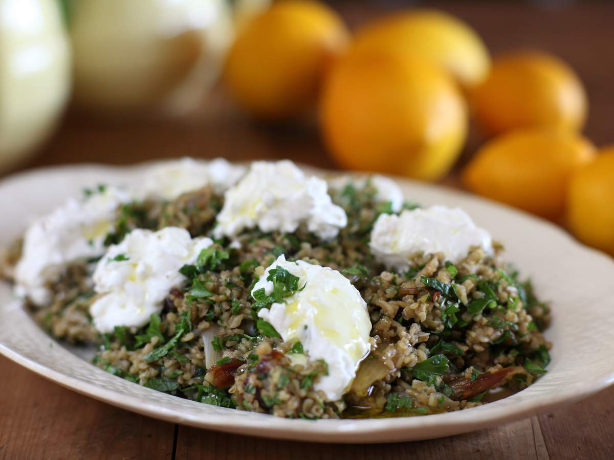 Warm freekeh with preserved lemons 02