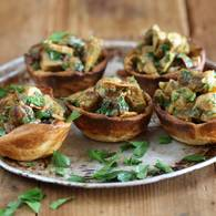 Moroccan chicken and raisin tarts 2