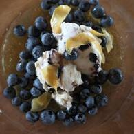 Verjuice and ginger coconut cream with blueberries 01  1