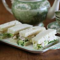 Chook and avocado sandwich with verjuice mayonnaise