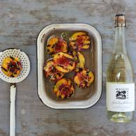 Grilled peaches in sparkling chardonnay 3