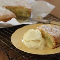 Apple tea cake with vanilla bean icecream 3