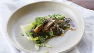 Roast duck in lettuce cups 13