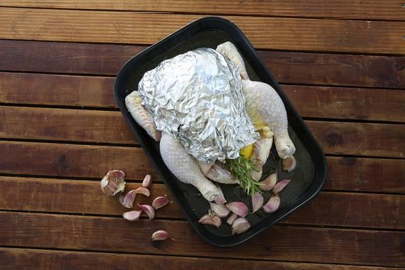 Roast chook with verjuice garlic 2