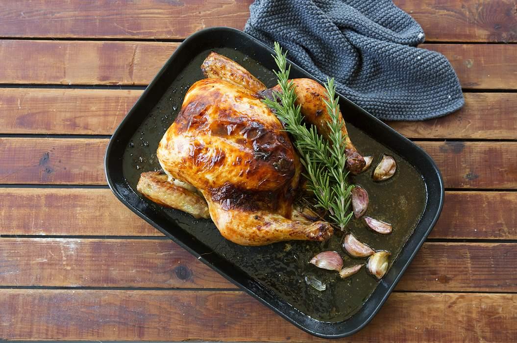 Roast chook with verjuice garlic 10