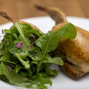 Baked stuffed quail with vino cotto and rocket 2