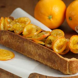 Approved coffee vino cotto chocolate tart with candied oranges 1