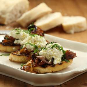 Approved verjuice ricotta with vino cotto roast onions 1