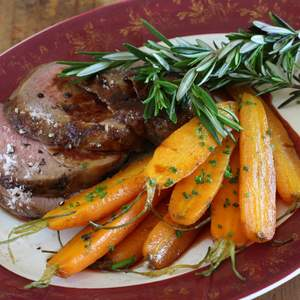Approved lamb rump with quince vino cotto and verjuice carrots 05