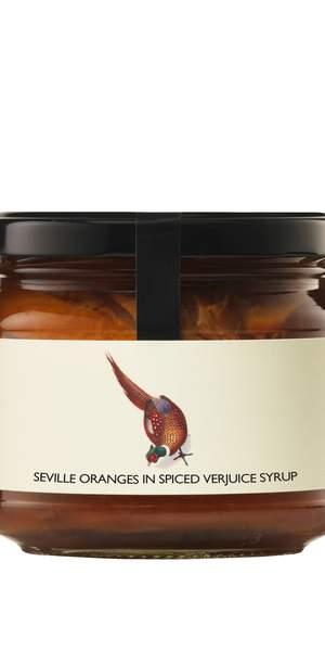 Spiced oranges in verjuice syrup