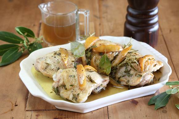 Preserved lemon with chicken thighs