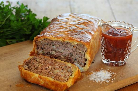 Meatloaf in puff pastry 02
