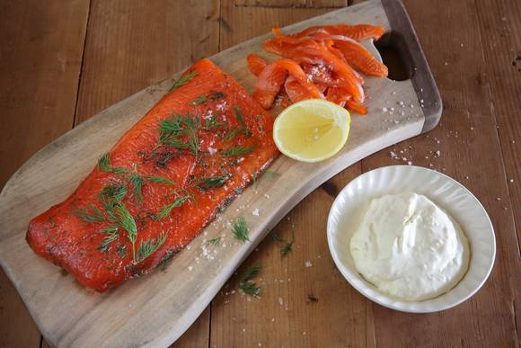 Cured Ocean Trout with Horseradish Creme