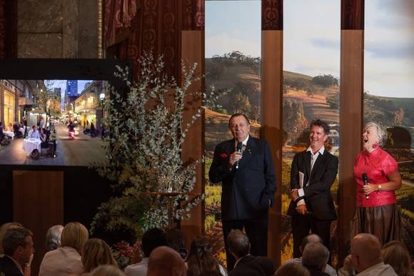 Barry humphries justin knock and maggie beer