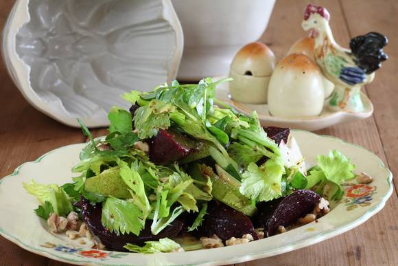 Beetroot  pear celery heart salad with vino cotto  1