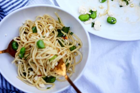 Broadbean pasta 2