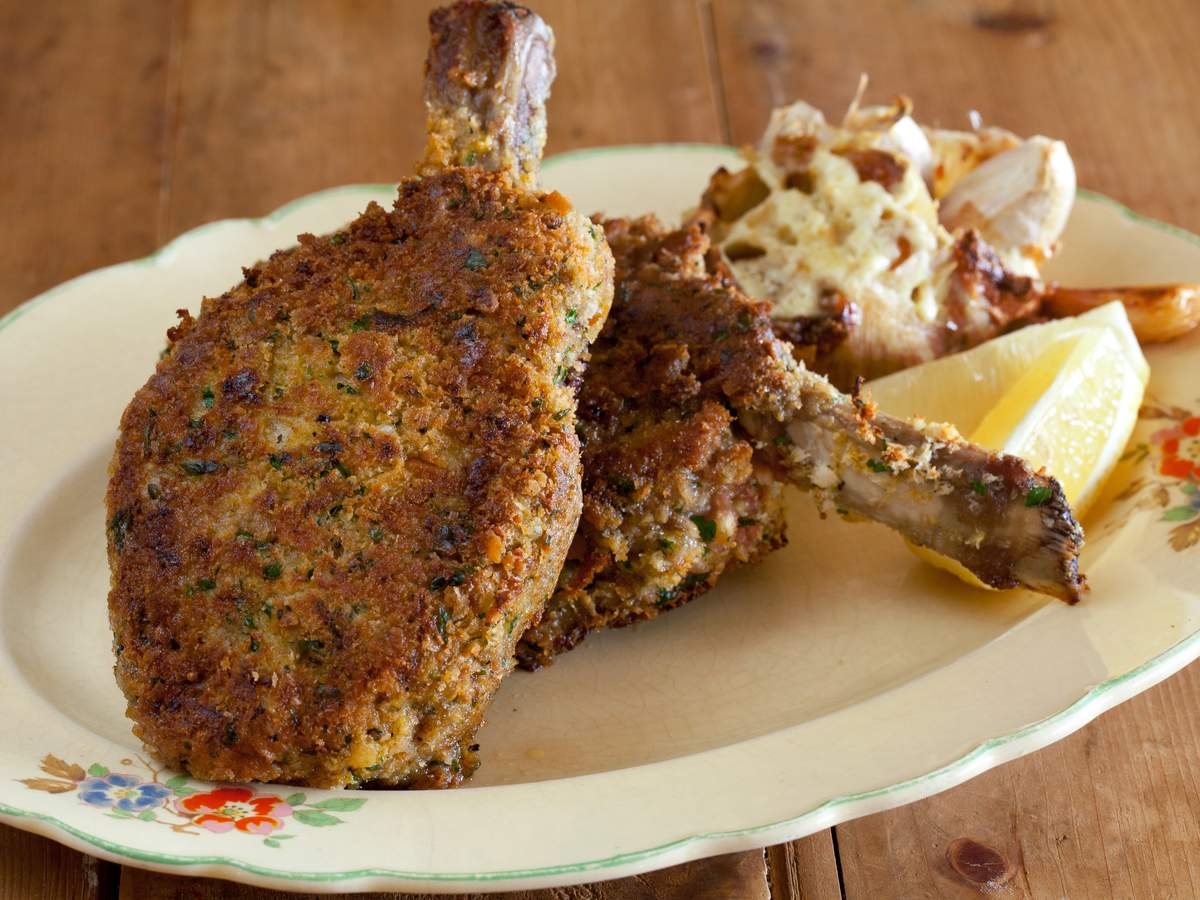 Crumbed veal cutlet