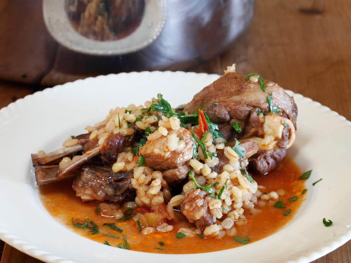 Lamb and barley casserole