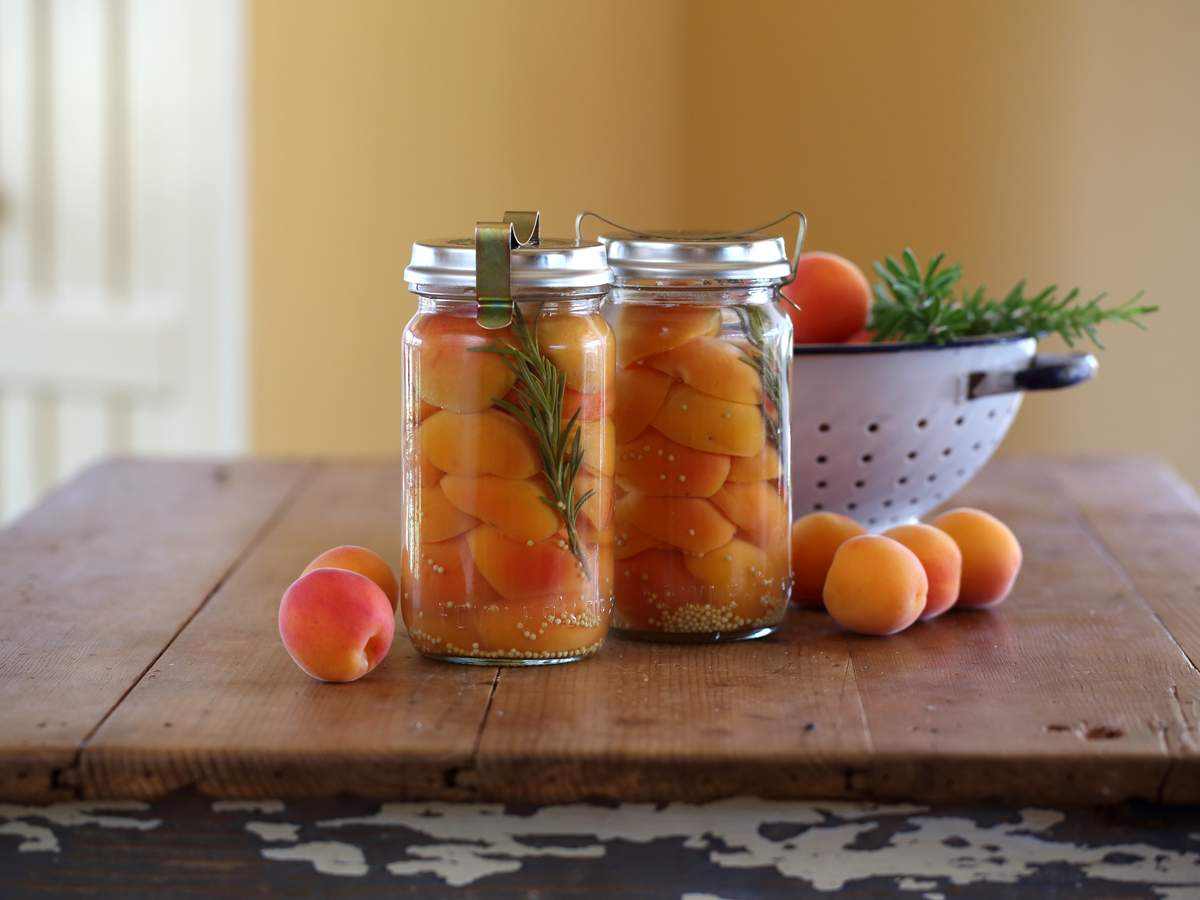 Preserved mustard apricots 2