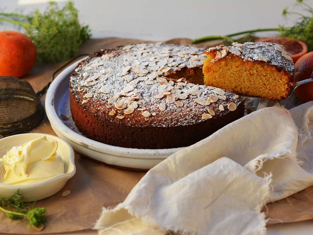 Blood orange seville marmalade almond cake 6