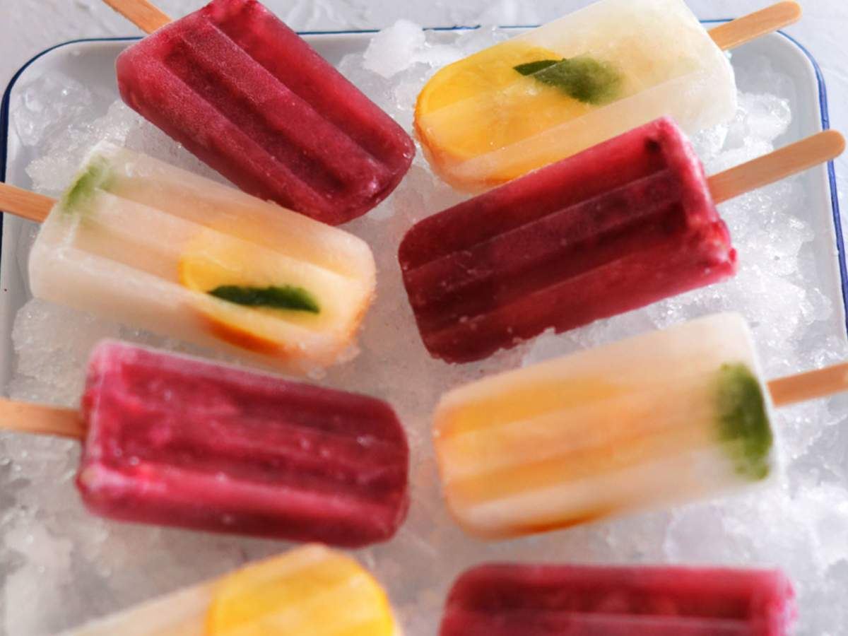 Ice blocks mixed 2