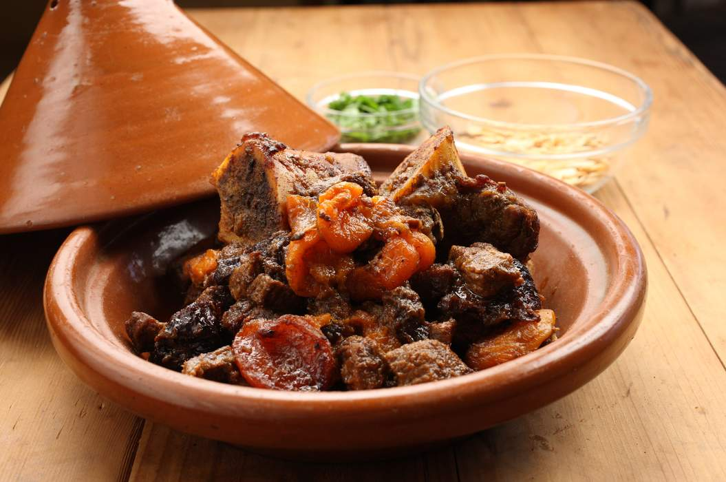 Beef tagine spiced pear paste