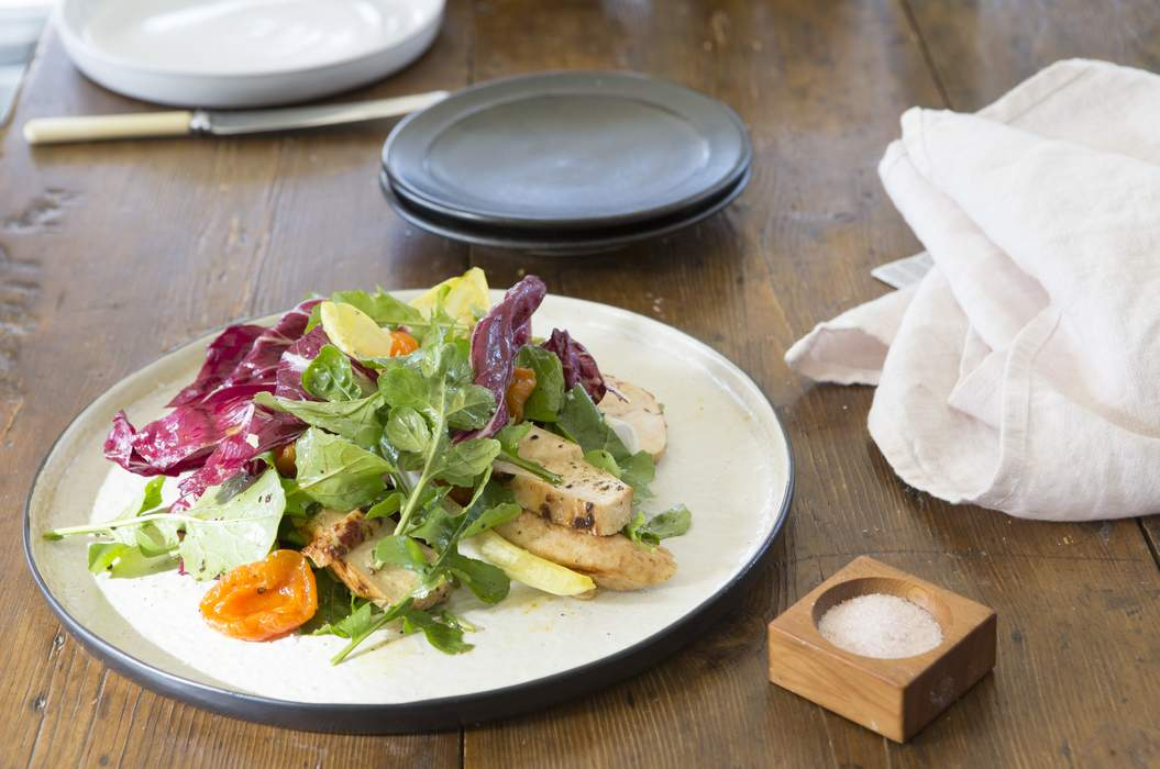 Chicken salad with mustard fruits approved