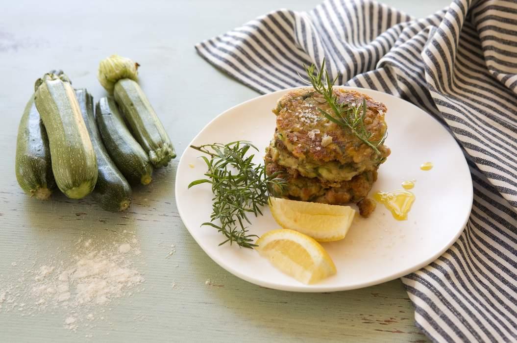 White bean zucchini feta and dill fritters 5