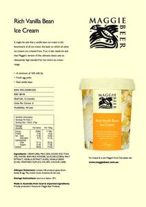 Vanilla ice cream trade flyers press
