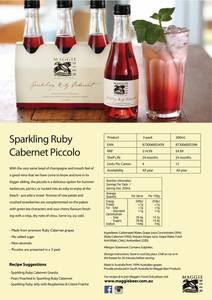 Sparkling ruby cabernet piccolo trade flyer