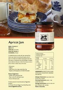Apricot jam trade flyer