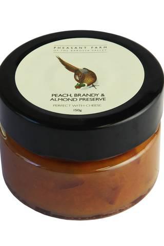 Peach brandy almond preserve