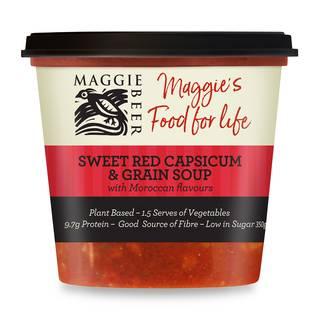 Sweet red capsicum soup lrg