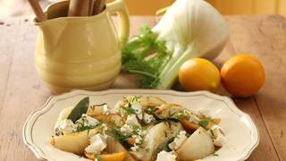 Fennel with goat s curd and verjuice