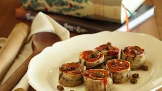 Capsicum eggplant roulade 022