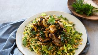 Lemon and caper oven baked chicken thighs with cous cous 2 web